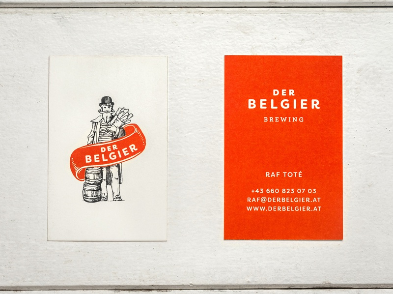 Der Belgier print design stationary design businesscard business card design beer beer branding illustrated illustration typography stationary logo design logodesign tgs thegraphicsociety graphic design branding