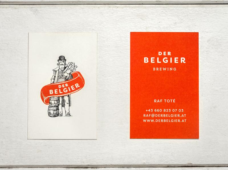Der Belgier print design stationary design businesscard business card design beer beer branding illustrated illustration typography stationary logo design logodesign tgs thegraphicsociety graphic design branding