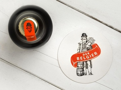 Der Belgier branding and identity logo coaster coaster design beer branding beer design logo design illustrated illustration logodesign typography tgs thegraphicsociety graphic design branding