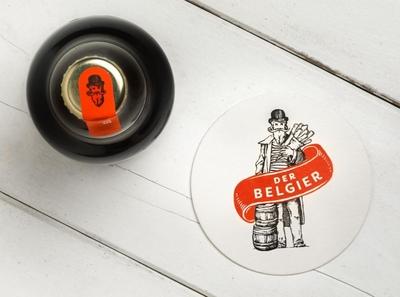 Der Belgier branding and identity logo coaster coaster design beer branding beer design logo design illustrated illustration logodesign typography tgs thegraphicsociety graphic design branding