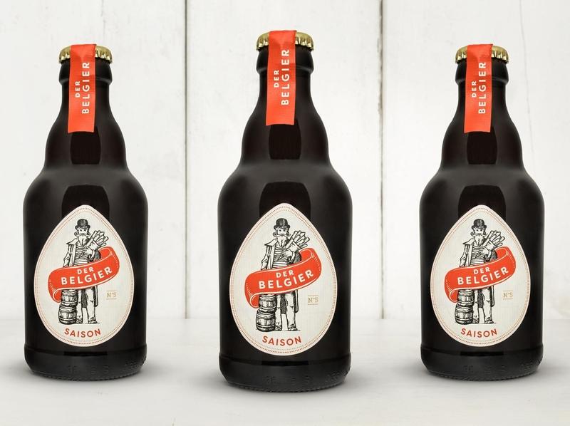 Der Belgier branding and identity typogaphy packaging packaging design label design beer label beer branding beer design logo logo design illustrated illustration typography thegraphicsociety tgs graphic design branding