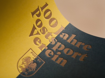 100 Jahre Postsport­verein embossing print finish print design print logodesign logo editorial layout editorial design editorial magazine design magazine cover magazine font type typography design branding thegraphicsociety tgs graphic design