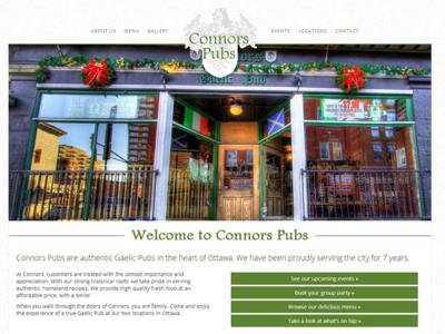 Connors Pubs web design scrollspy