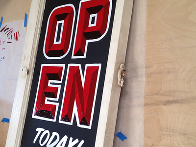 OPEN chromatic detroit lettering sign painting sign painter