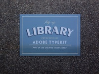 Popup library sign