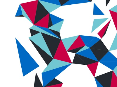 Faceted low poly facets silkscreen facebook posters