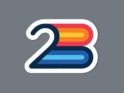 2B chasing three lotsa zeros stickers 2b
