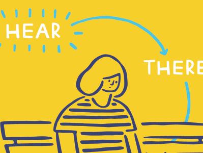 """Being Hear"" 2018 Book Tour Poster poster design books analog lab poster illustration"