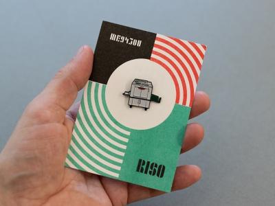 Rex the Riso risography products enamel pins risograph