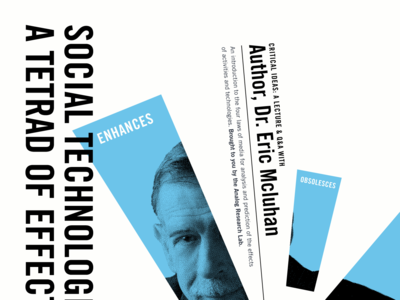 A Tetrad of Effects mcluhan technology events black blue white posters