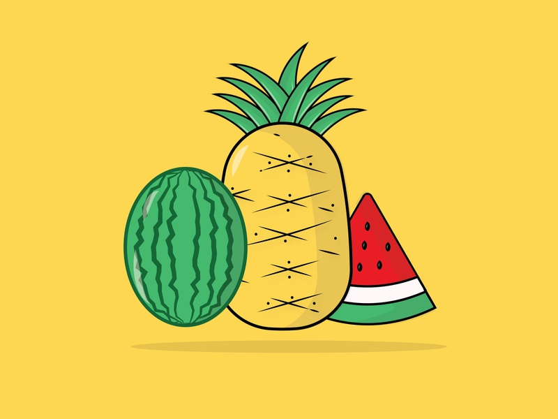 fruit design art vector creative illustration flat design design flatdesign fruit