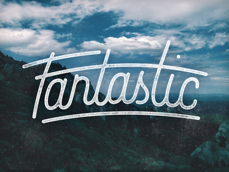 'Fantastic' Update illustrator fantastic lettering type hand lettered