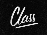 Class - 365 Days of Lettering Day 21