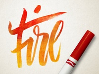 Day 102 - 365 Days Of Lettering - Fire