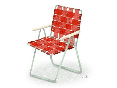 Technique Work Chair Illustration