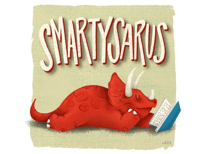 Smartysaurus sketchbook quick study sketch smarty doodle reading dinosaur illustrator drawing illustration