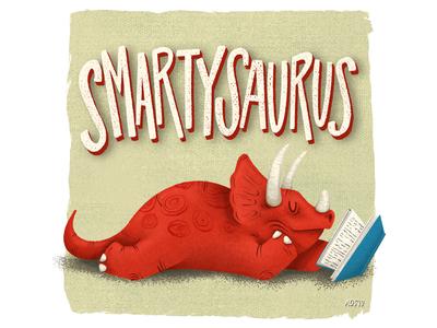 Smarysaurus - Fixed final hand drawn illustrator drawing doodle illustration