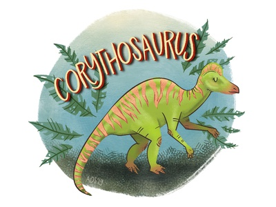 C is for Corythosaurus dino alphabet series dino alphabet dinosaur alphabet corythosaurus dinosaur hand drawn illustrator drawing doodle illustration