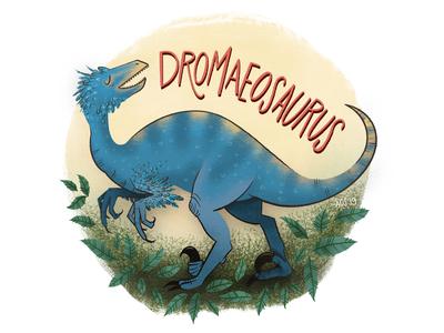 D is for Dromaeosaurus series illustration alphabet dinosaur alphabet dinosaur hand drawn illustrator drawing doodle illustration dromaeosaurus