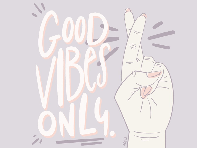 Good Vibes Only lettered hand hand drawn illustrator drawing lettering graphic doodle design illustration