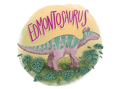 E is for Edmontosaurus hand drawn illustrator drawing lettering doodle illustration dinsoaur dinosaur alphabet