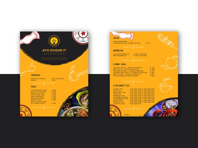 Ayo dogor it Restaurant menu design graphic menu design menu