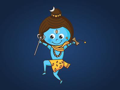 Baby Shiva Illustration 2/2 vector illustration clean design minimal
