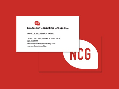 NCG Business Card chat bubble red printed print luxe graphic edge design cards card business cards business