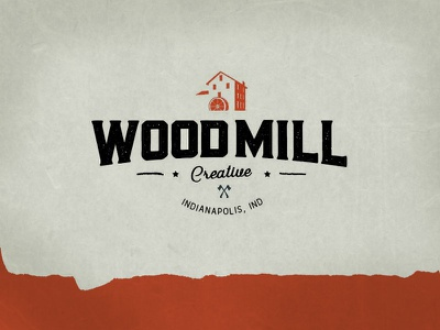 WoodMill Logo retro branding typography axe creative design mill wood hipster antique vintage logo