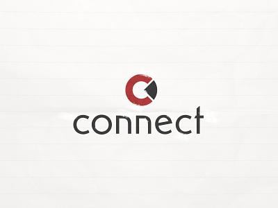 Connect Logo grunge red mark logomark brand branding c logo connect