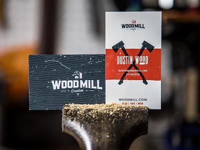 WoodMill Business Card business cards wood axe biz card branding self promotion design