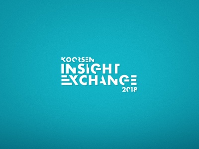 Insight Exchange Conference Logo, Unused 2018 typography exchange insight branding convention con conference sales logo