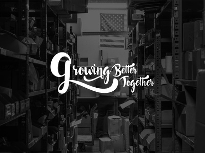 Growing Better Together Typography wordmark conference font script branding logo typography