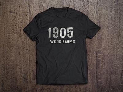 1905 Wood Farms T-Shirt Mockup typography vintage antique grey farm wood logo 1905 mockup shirt tee tshirt