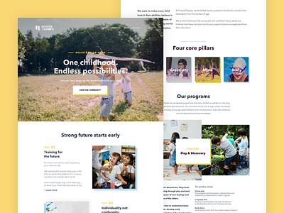 FutureChamps Kindergarten branding ui design ui  ux website design web design product design