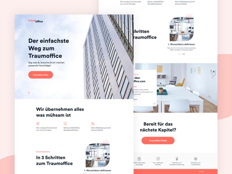 DreamOffice // Landing pages clean landing landing page web design