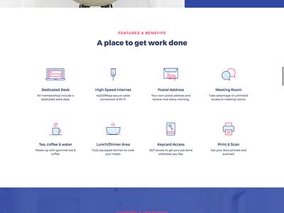 CoWorking - Landing page clean minimal digital nomad landing design ux ui product page web design coworking landing page
