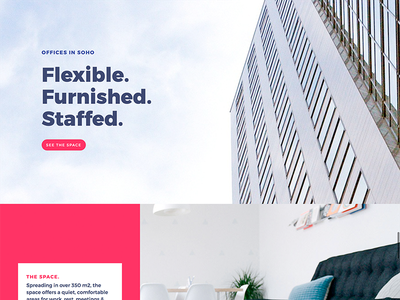CoWorking - Landing page clean minimal digital nomad landing design ux ui product page web design coworking landing page