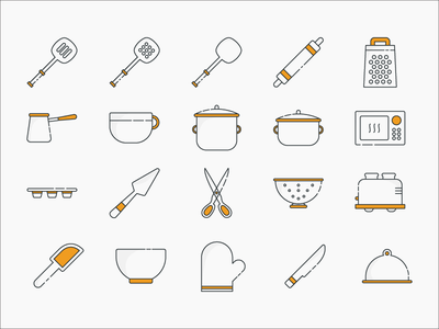 Cooking & Baking Icon Set icon set icons baking cooking
