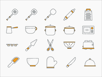 Cooking & Baking Icon Set