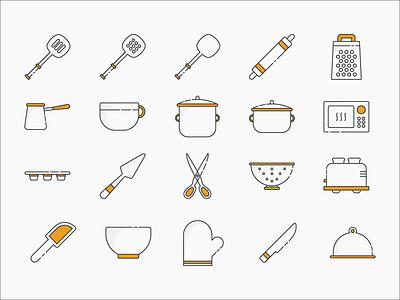 Cooking & Baking Icon Set icon set icons baking cooking