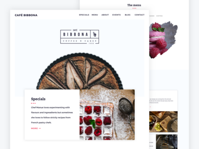 Café Bibbona - Concept for Café & Bakery coffee house food ui coffee café landing page bakery