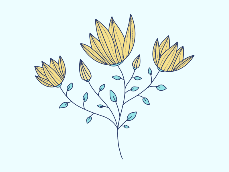 WIP: Foliage & Flower pattern flower illustration flower procreate app procreate illustration illustration art pattern design pattern a day pattern art pattern foliage