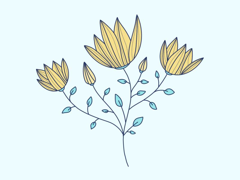 WIP: Foliage & Flower pattern flower illustration flower procreate app procreate illustration illustration art pattern design pattern a day pattern art pattern foliage