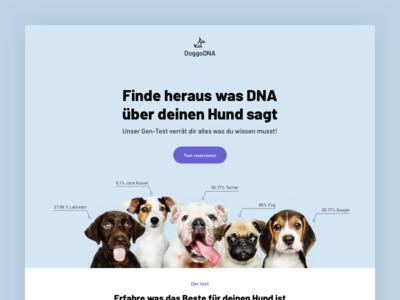 DoggoDNA - DNA tests for dogs landingpage pets landing page design design web design ui landing page landing
