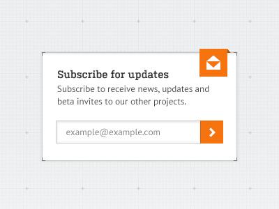 Sidebar Widget sidebar widget ui interface subscription subscribe grid labs