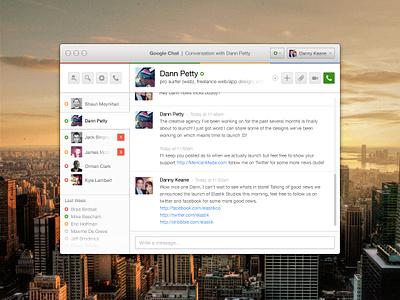 Google Chat for Mac google mac application chat conversation plus ui ux minimal