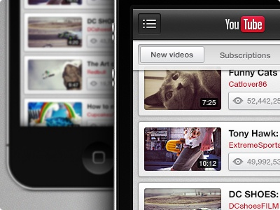 YouTube iPhone iphone ios youtube app interaction video