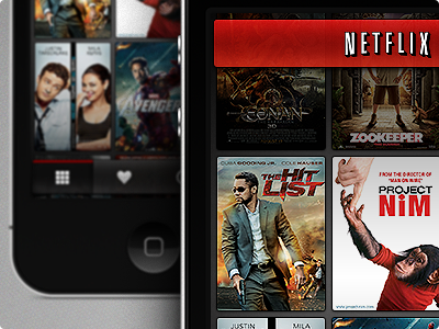 Netflix iPhone iphone ios netflix app interaction video movie cover film
