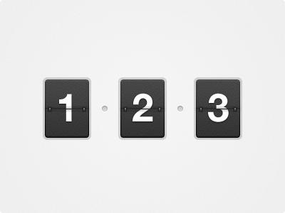 Flip counter (freebie) freebie ui interface psd counter design concept